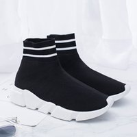 [with box]Luxury Paris brand Speed Training Top Boots Socks ...