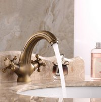 Wholesale High Quality Bathroom Basin Antique Brass Faucets ...