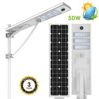 US stock 50W solar led street light solar outdoor led lighti...