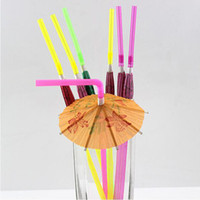 Disposable Plastic Straw Cocktail Parasols Umbrellas Drinks ...