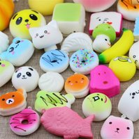 Squishy Toys Slow Rising Squishies 10 paquets au hasard / 1 lot - Kawaii Giant Food Squishys