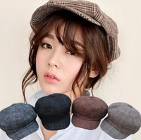 4 Style Spring Autumn Lady Berets Cap Fashion Octagonal Cap ...
