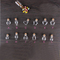 50pcs Mixed Mini Glass Bottles with Cork Hanging Rope Small ...
