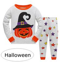 ins Halloween baby Boys Robot print Pijamas pjs sets Ropa de dormir para niños Children Cars Camión de pijamas Girls Loving Cute Pijamas por 2-7 años