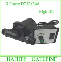 Brushless DC Water Pump 12V 24V 3 Phase High Flow Solar Pump...