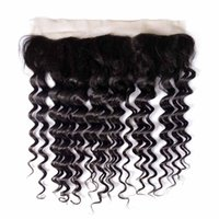10A Ear To Ear 13x4 Deep Wave Frontal Closure Indian Brazili...