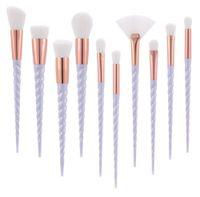 Unicorn Thread Makeup Brushes مجموعة فرش الماكياج الاحترافية فرش الماكياج Brushed Eyebrow Eyeliner Powder Brushes