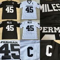 Hommes # 45 boobie miles Permian Panther Jersey Tout cousu vendredi soir lumière maillots maillots noirs blanche livraison gratuite S-XXXL