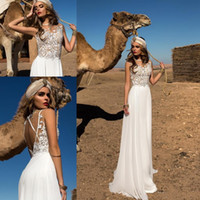 2018 New Arrival Summer Beach Wedding Dresses Sleeveless Bac...