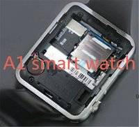 A1 Bluetooth Smart Watch prend en charge la fente pour carte SIM Health Watchs pour Android Samsung et IOS iphone Smartphone Bracelet Smartwatch