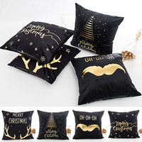 Wholesale 1 PCS 45*45cm Merry Christmas Plush Pillow Case Bl...