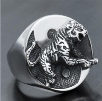 Vintage Men And Women Gothic Rings Punk Style Silver Plated ...