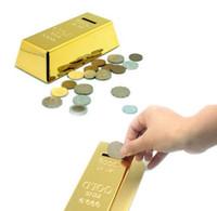 Tirelire Gold Bar, 999.9 Or fin, Décoration Net Wt 1000G sur le dessus du bar, tirelire en or
