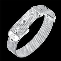 Petite montre nette avec bracelet en argent 925 JSPB237, cadeau Beast Hommes et femmes Sterling Silver Chain Chain Link Bracelets
