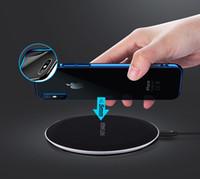 10w Qi Carregador Rápido sem fio para iPhone XS Max XR Vidro Fast Wirless Pad de carregamento para Samsung Galaxy S9 S8 Nota 9 Wholsale