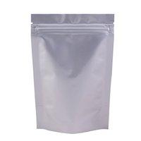 Различные размеры 4.5MIL Reclosable Stand Up Up Упаковочные пакеты сверхмощные Серебряные алюминиевые фольги Zip Lock Boy Storage Bag 100 шт.