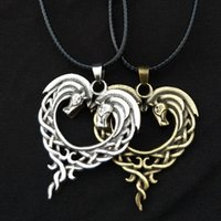 Original Celtic Necklace For Horse Lovers Heart- Shaped Horse...