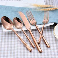 1 комплект Креативная ручка столовые посылки 4 цветной нож вилка ложка 5-частный костюм столовые приборы набор высококачественных посуды из нержавеющей стали