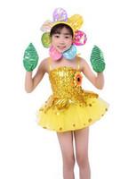 2018 neue Art Coole Sommer Kinder Cosplay Sonnenblume Kleidung Jungen und Mädchen Dance Conjoined Kleidung kurzen Stil