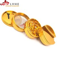 Lvhe Herb Grinder 4 Pieces Flexible Aluminum Big Size 75MM H...
