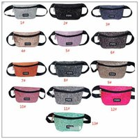 13 Colors Glitter Pink Letter Waist Bag PINK Shiny Sequin Fa...