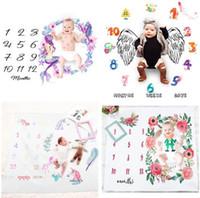 18 estilo manta bebé recién nacido swaddle swaddle shapd wrap wapple fondo fondo mensual número de crecimiento fotografía accesorios trajes