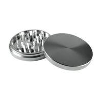 Formax420 100mm Aluminiumschleifer 2 Teile Silber Farbe Kräutermühle Rauchen Zubehör