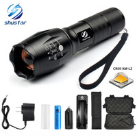 shustar LED flashlight 8000 Lumens XM- L2 Zoomable 5 Modes al...
