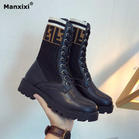 Booties woman 2018 new fashion rubber Martin boots female fr...