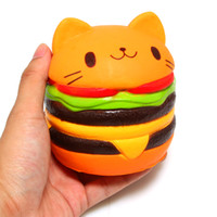 2018 Squishy Slow Rising Jumbo Toy cat burger pu Squishiy Fa...