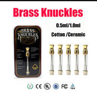 Brass Knuckles 510 Cartridges Pyrex Glass 0. 5ml 1. 0ml Gold B...