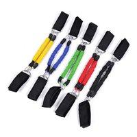 الساق التدريب المقاومة البولنجر أنابيب المطاط الطبيعي الفرقة مع متعدد الألوان عالية القوة المرنة سحب حبل للرجال النساء 17kn jj