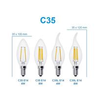 Led Candel Лампы База СВЕТОДИОДНЫЕ Нити Пламени Старинные Свечи Лампы Для Дома Столовая Спальня Гостиная 2 Вт 4 Вт 6 Вт светодиодные фонари