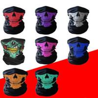 Alta qualità all'aperto senza soluzione di continuità versatile magia cranio sciarpa maschera viso ciclismo maschere da equitazione calda neckerchief costumi di halloween 9 stile