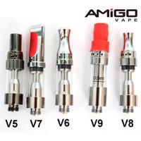 Boş Vape Kalem Kartuşları Amigo Liberty V9 Kalın Yağ Kartuşları Liberty V5 V6 V7 V8 V9 E Sigara Vape Tankları Balmumu Atomizörler 100% Orijinal