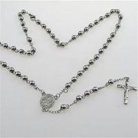 7bd1575c5b83 Compre Mens Collar De Rosario De Plata Mujeres Perlas De Perlas ...