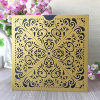 30pcs X Pocket Design Luxury Gold Wedding Birthday party Inv...