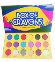 В наличии Новая косметика BOX OF CRAYONS Тени для век 18 Модные цветные палитры теней для век