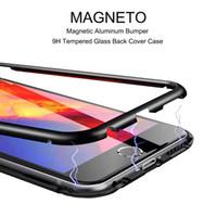 360도 자기 흡착 금속 범퍼 강화 유리 투명 내진성 전체 커버 케이스 아이폰 X 7 8 플러스