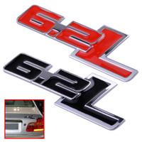 3D 6.2 L металлический корпус автомобиля сторона наклейки эмблема знак для Chevrolet Camaro 2011-2015 Ford F150 2014