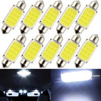 10 unids / lote 31 mm 36 mm 39 mm 41 mm COB 1.5W DC12V interior del coche LED bombillas interior de la lámpara