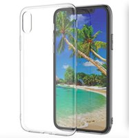 Para el caso del iPhone X 8 Cubierta clara suave 1.0mm TPU Silicon Gel Fundas de teléfono para Iphone8 Samsung Galaxy S9 S8 Plus Note8