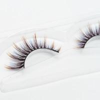 Seashine Imported 3d pestañas de seda etiqueta privada false eyelashe 3d pestañas de seda pestañas falsas pestañas de color de lujo envío gratis C8