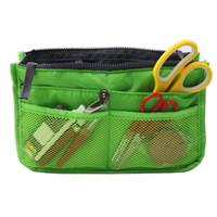 Kit di cucito verde per spazi ampi con strumenti per cucire Strumenti di ricamo da viaggio per uso domestico Borsa 28 * 15 * 9cm