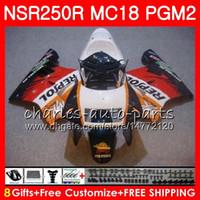 Corps Pour HONDA NSR 250 R MC18 PGM2 NSR 250R NS250 Repsol Chaud NSR250R 88 89 78HM.33 MC16 NSR250 R RR NSR250RR 1988 1989 88 89 Kit de carénage