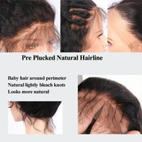 straight 13*4 Lace Front Human Wig For Black Women Girls Virgin Brazilian Malaysian Preplucked Baby Hair bleached knots