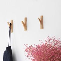 Handmade Pappel Haken Holz Wandhalter kreative pastorale Einfachheit Holz Garderobe Kleiderbügel Mural Wallets nastennaya Wallets Wandhaken