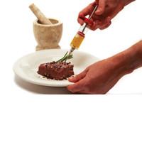 Paslanmaz Çelik İğneler Spice Şırınga Seti BARBEKÜ Et Lezzet Enjektör Kithen Pişirme Sosu Marinade Et Aksesuarları