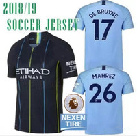 MAN city soccer jersey 2018 19 KUN AGUERO Top Thai version 1...
