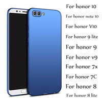 Huawei Onur için 10 9 Lite Vaka Onur Not 10 V10 9 8 Lite 7X Kılıfları Lüks Ultra Ince PC Sert Mat Kapak